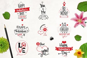 Happy Valentine's day, typographic