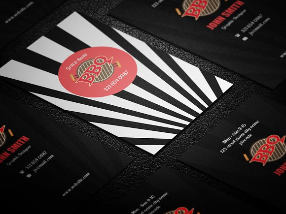 Creative Bbq Business Card Business Card Templates Creative Market