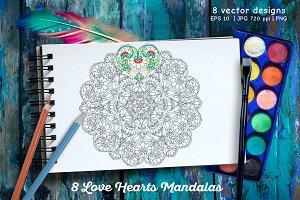 Love Hearts Mandala