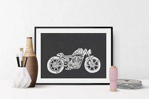 Bike Illustration, Wall Art, Decor