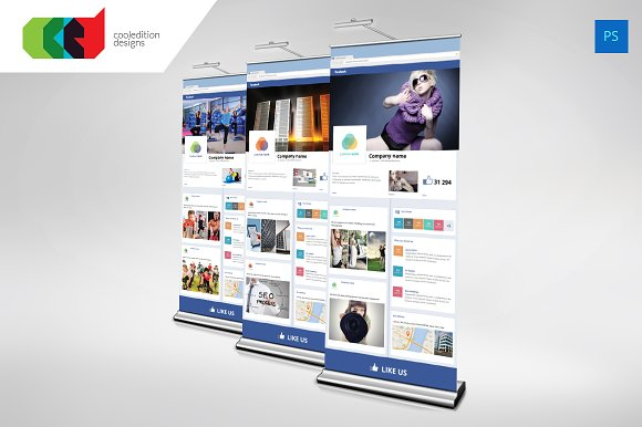 Facebook Style Roll Up Banner