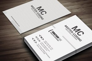 coding shape v1 business card