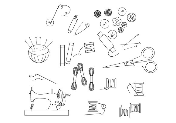 Linear sewing tools.