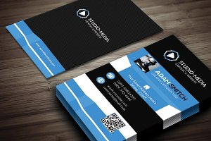 clean shape creative business card