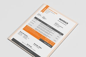 Modern business docx invoice