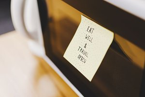 Eat well & Travel often note/ quote