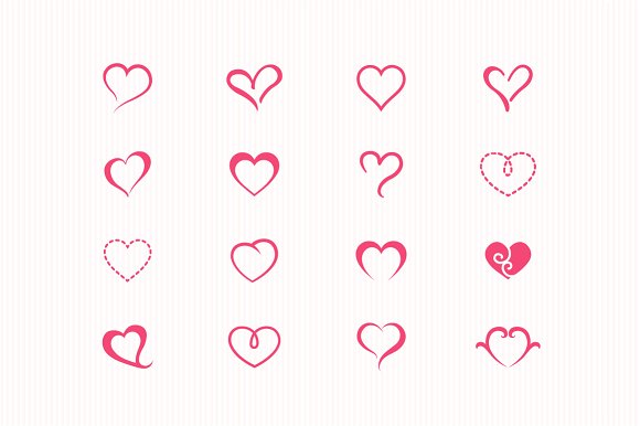85 Heart Symbol Icons Icons Creative Market