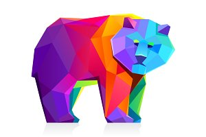Low poly bear