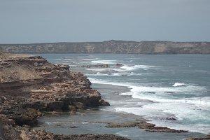 Coastal Cliffs Landscape Stock Photo