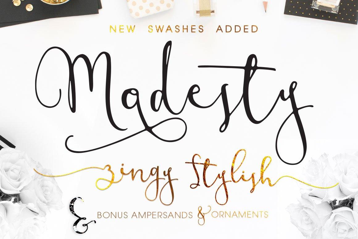 Modesty Script Fonts Creative Market