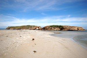 Beach Island Sand Cliffs Stock Photo