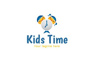 Kids Time-School Kids Stock logo
