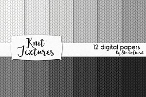 Knit Textures - 12 digital papers
