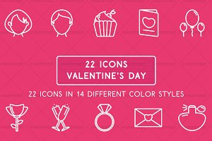Happy Valentine's Day icons