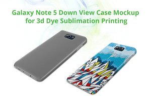 Galaxy Note 5 3d Case Down Mock-up