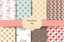 8 Valentine Seamless patterns V.3