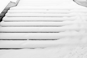 Snowy Stair. Artwork