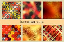 Orange abstract patterns.