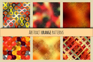 Orange abstract patterns.