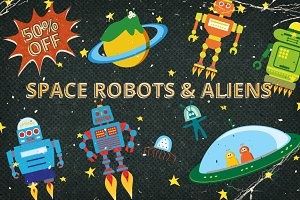 Space Aliens and Robots