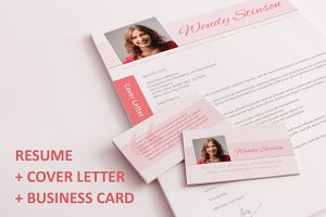Resume + Cover Letter + B. Card