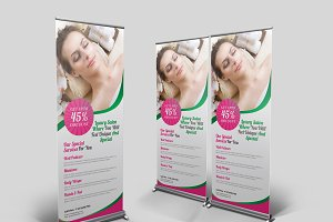 Spa Beauty Roll Up Banner