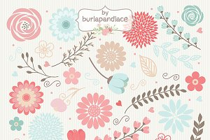 Vector Flowers clipart