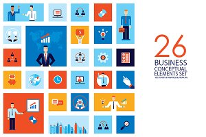 26 business concept vector elements