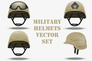 Set of Military tactical helmets