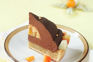 Chocolate, Mango and Macadamia Cake