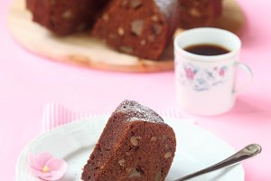 Vegan Chocolate Pear Cake