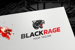 BlackRage - Puma Logo Template