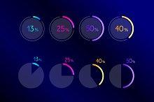 Circle, round pie chart, graph.