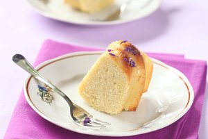 Two Pieces of Lemon Cake
