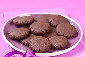 Vegan Chocolate Raspberry Cookies