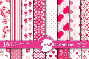 Valentines Day Digital Paper AMB1166