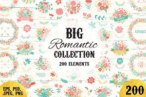 200 Wedding Floral Romantic Bundle