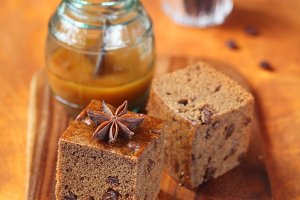 Vegetarian Honey Coffee Cake
