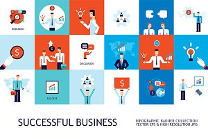 18 business concept banner set