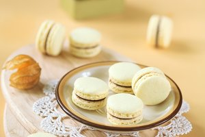 Light Yellow Macarons