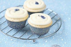 Violet White Chocolate Cupcakes