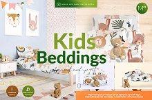 Bedding Set for Kids Mock-ups Set