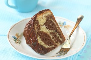 Piece of Marble Cake