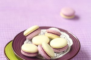 Macarons with Blueberry Lime Filling