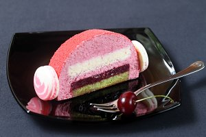 Cherry Lychee Pistachio Cake