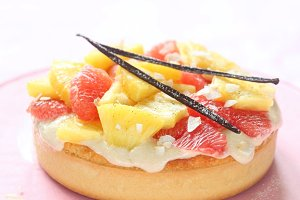 Coconut Tart with Fresh Fruits