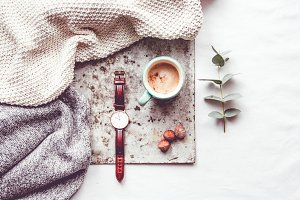 Coffee and a watch