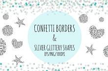 Confetti and Sliver Glitter Shapes