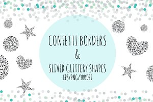 Confetti and Sliver Glitter Shapes