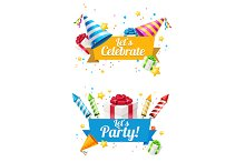 Party Card, Flyer or Placard. Vector